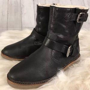 Madewell Biker Boot Black Leather 6